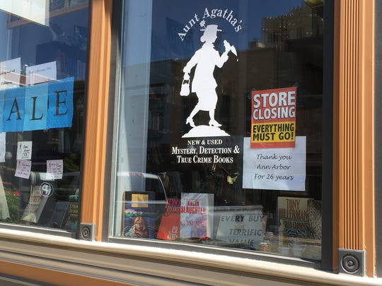 After 26 years in downtown Ann Arbor, Aunt Agatha's Mystery Bookshop will close Friday. Owners Robin and Jamie Agnew say they've been done in by factors that include Amazon, nearby construction and simple age: the books seem to be getting heavier every year.