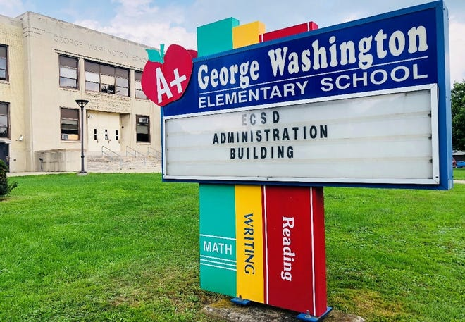 The former George Washington Elementary School will serve as temporary home for Elmira City School District offices.