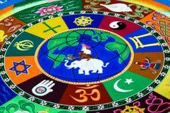Spreading world peace through sand art