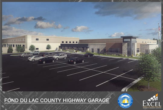 A rendering of the Fond du Lac County Highway garage.