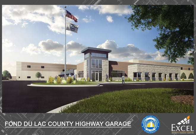 The main entrance to the proposed Fond du Lac County Highway Department Garage.