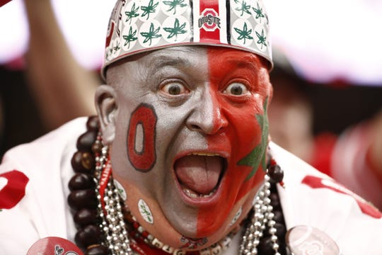 "Ohio State superfan Jon Peters of Fremont has been dressing as ""Big Nut"" since 2003."