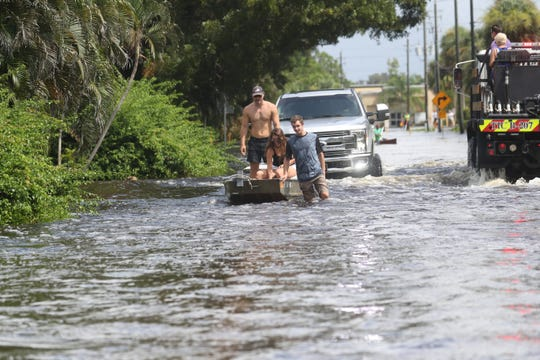 Heavy flooding swamped the Island Park neighborhood after three days of relentless rains and a high tide in late August of 2017. Some residents were rescued by emergency personal.