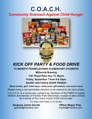 Community Outreach Against Child Hunger Kick-Off Party information.