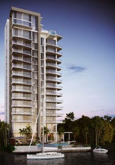 Concept image of ONE, a condo tower  to be built near downtown Fort Myers' River District.