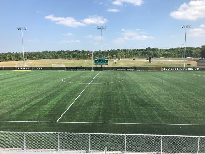 The new Aldo Santaga Stadium will debut Friday when the UWGB men's soccer team hosts Hartford at 7 p.m.