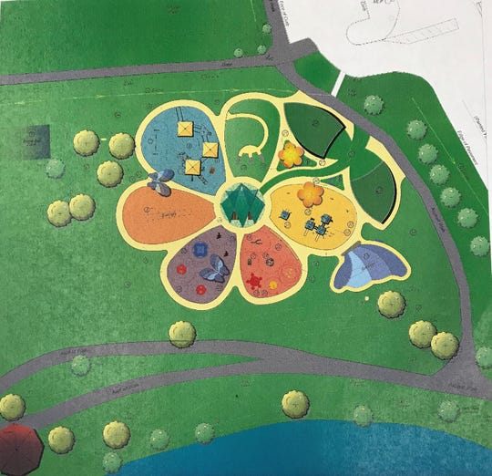 Kid Venture. 2.0 would resemble the petals of a flower under plans for a makeover and expansion of the playground that will be discussed at a public meeting Thursday night at the Civic Center of Anderson.