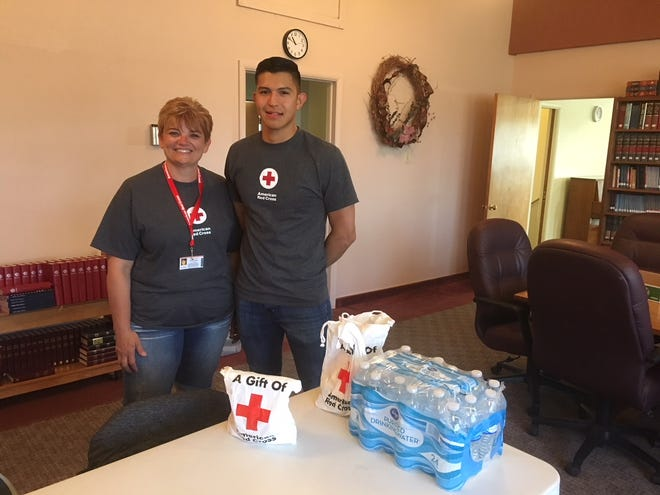 """Red Cross volunteer Shellie Creveling has been hopping this year, and she wouldn't have it any other way. """"I love giving back to the community,"""" she said. """"I love being involved and making people's lives a little easier when they're going through a tough time."""""""