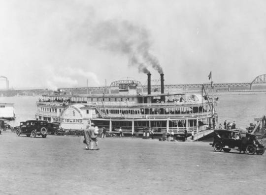 Visitors arrive to the park by the Rose Island steamer.