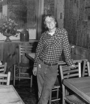 Brett Kimberlin in the Earth Garden Cafe in 1976.