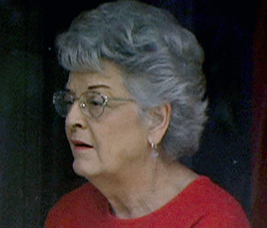 "Carolyn Bryant Donham, 84, seen in this image from video taken in 2004 by a ""60 Minutes"" video crew, is quoted in a 2017 book, ""The Blood of Emmett Till,"" as saying she lied about Till accosting her in 1955."