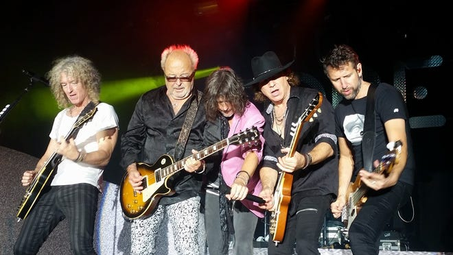 Foreigner performs during the band's Europe 2016 tour.