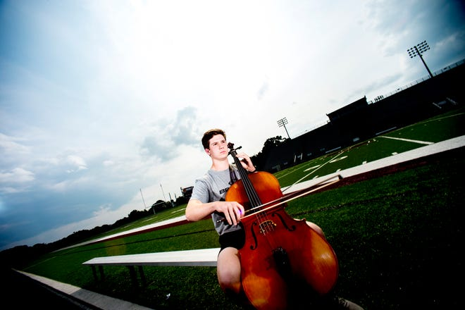 Bearden senior linebacker and orchestra member Mac Chandler has been playing the cello since middle school.