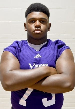 Opelousas Catholic defensive end James Monroe was an All-State honorable mention in 2017.
