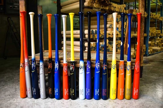 Louisville Slugger is making colorful bats bearing the nicknames of MLB players for the second-annual Players Weekend.