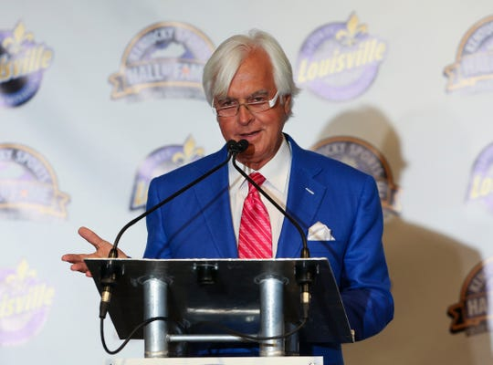 Two-time Triple Crown winning trainer Bob Baffert delivered a speech as a 2018 Kentucky Sports Hall of Fame inductee.
