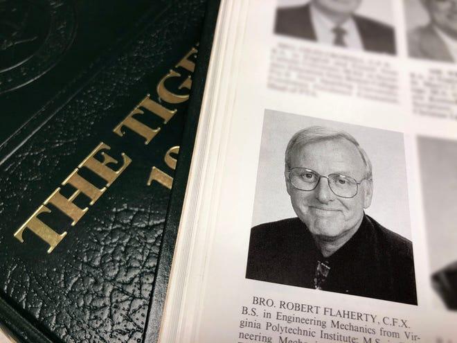 Photo of the 1998 St. Xavier yearbook of Bro. Robert Flaherty.