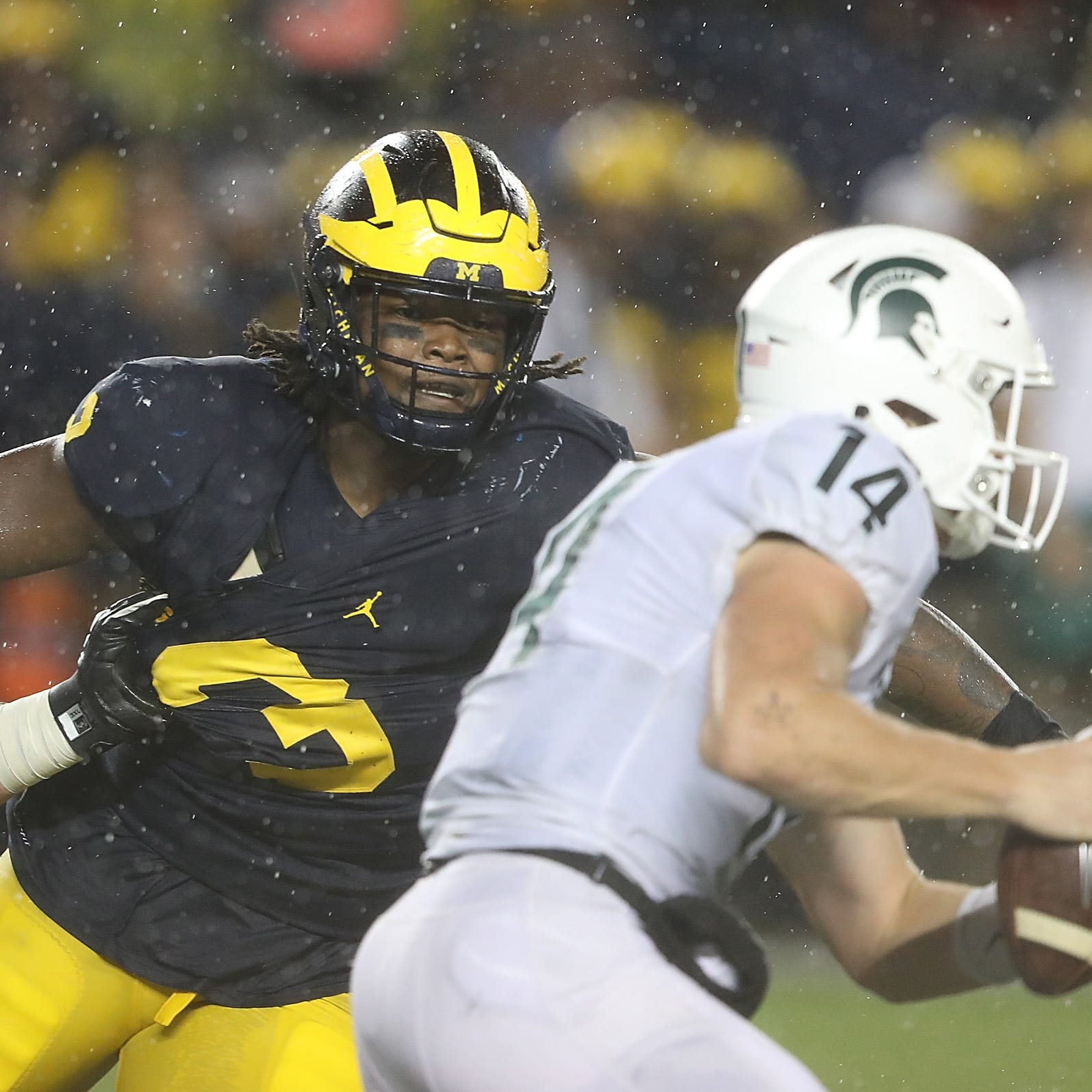 Rashan Gary calls Michigan State 'little sister,' says state belongs to U-M