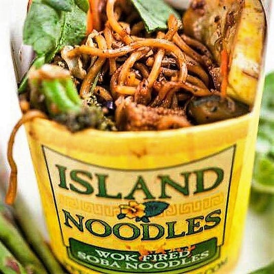 Island Noodles is one of the food trucks that will be at the Food Truck Mash-Up, Saturday, Aug. 25 at Cooley Law School Stadium.