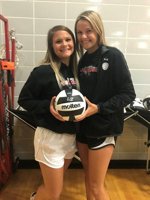 Crestview's Magey Shambre (left) and Natalie Restille (Right) received preseason hype when they were named to the MaxPreps Division III Volleyball Players to Watch List.