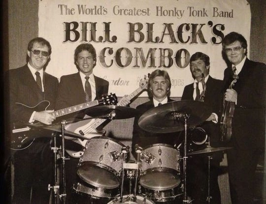 Gil Michael (right, with fiddle) and Bill Black's Combo.