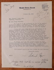 A letter from U.S. Sen. Robert A. Taft of Ohio to then-Judge Joseph R. McCarthy.