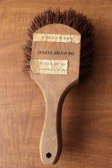 A brush from Sparta Brush Inc. sent to U.S. Sen. Joseph R. McCarthy to brush off Communists in Washington, D.C.