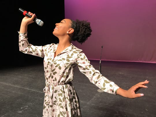 Miss Louisiana 2018 Holli' Conway practices her talent on Tuesday, Aug. 21 at the Monroe Civic Center in Monroe, Louisiana.