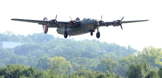 Wings of Freedom tour featuring vintage WWII aircraft at Morristown Municipal Airport. September 8, 2016, Hanover, NJ