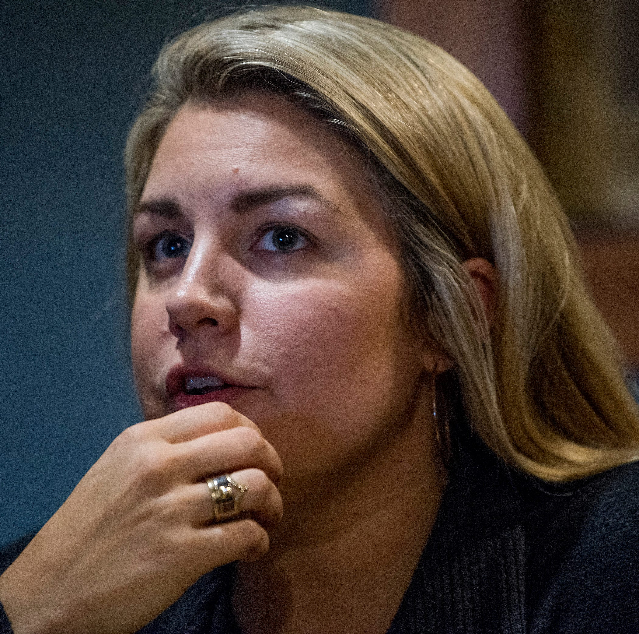 Mallory Hagan, candidate for Alabama House Seat District 3, talks about her campaign during an interview in Opelika, Ala. on Wednesday August 22, 2018.