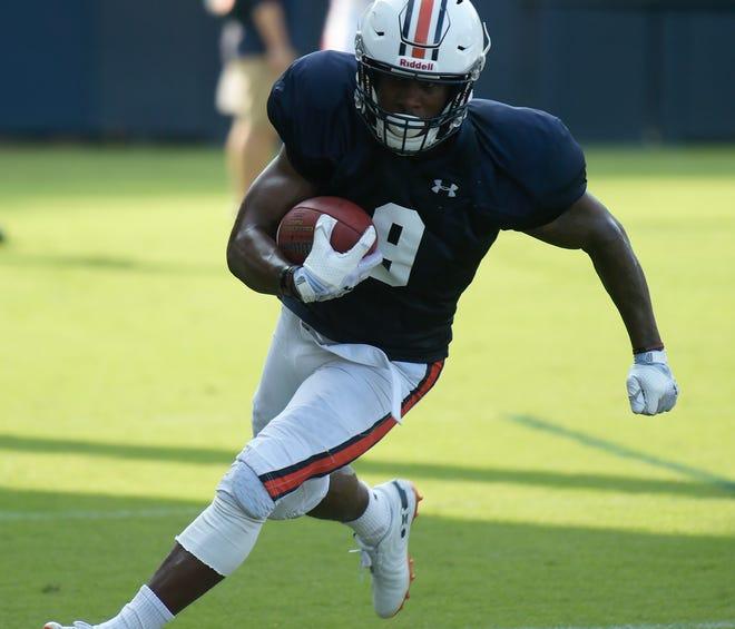 Auburn running back Kam Martin during practice on Wednesday, Aug. 22, 2018 in Auburn, Ala.