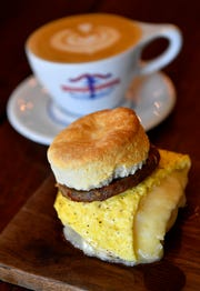 The No. 1 biscuit is at Barista Parlor.Thursday Aug. 23, 2018, in Nashville, Tenn.