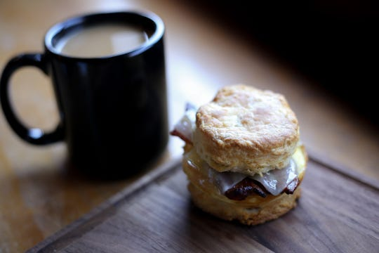 Biscuit sandwich from 8th & Roast.