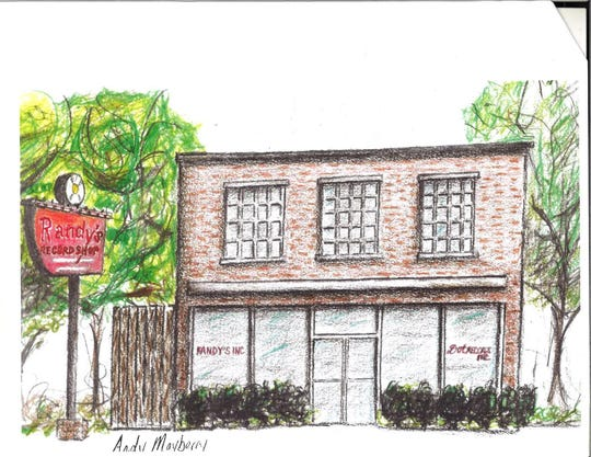 Artist Andy Mayberry sketched what the Historic Randy's Record Shop project could look like in Gallatin.