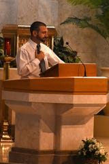 Jim's son Jack delivers the eulogy. Professor Jim Langlas was laid to rest after a funeral service Tuesday morning at St. Peter the Apostle Catholic Church in East Naples.
