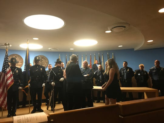 Donald Scorzetti was sworn in as chief of police in Lodi.