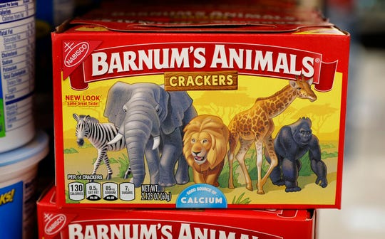 The new design on Nabisco's animal crackers box depicts the animals roaming free. The change came after pressure from animal rights groups. Nabisco bakes the crackers in Fair Lawn.