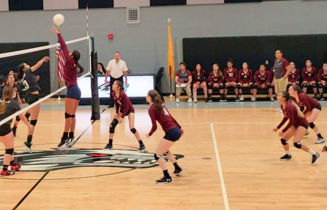 The Deming High Lady Wildcats defeated the host Chaparral Lobos in four sets on Tuesday.