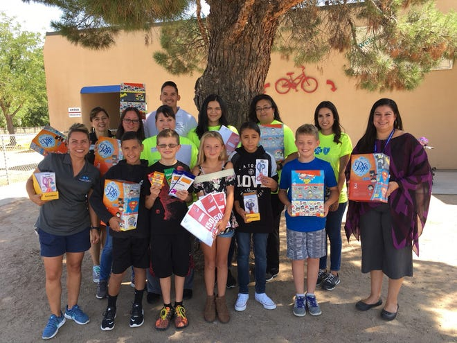 Employees at Blue Cross and Blue Shield of New Mexico delivered school supplies to Mesilla Elementary in Las Cruces on Tuesday, Aug. 14.