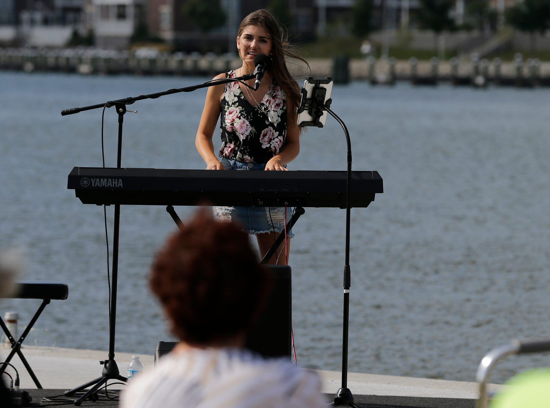 Franki Mascato provided the entertainment for the ribbon cutting.  A ribbon cutting was held for the completion of the east and west Morgan District River- walk sections which provides a loop for users on the north and south shores Thursday,  August 23, 2018, in Oshkosh, Wis.  Construction was made possible through a Wisconsin DNR Stewardship grant and City Capital Improvement Program funds.Thursday,  August 23, 2018, in Oshkosh, Wis.Joe Sienkiewicz/USA Today NETWORK-Wisconsin