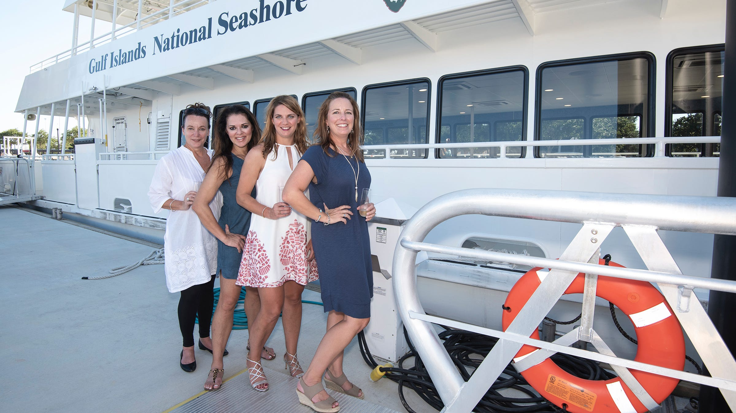 Lisa Sharp, Lisa Roper, Bridget Helm and Kelly MacLeod have arrived at the downtown city dock and are ready to hit the downtown hotspots.
