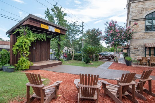 The Vineyard on 12th Avenue in East Hill offers great wine, food, music and beer inside the historic building and outside in the gated courtyard.