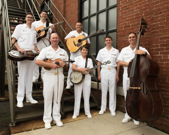 The U.S. Navy Band's country-bluegrass ensemble Country Current will perform Sunday at the Saenger Theatre.