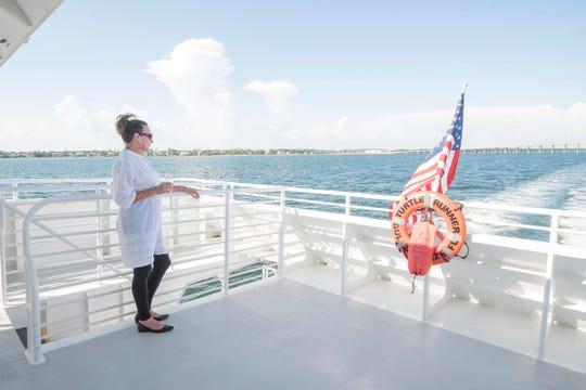 Lisa Sharp enjoying the cruise.