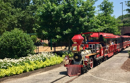 Take a ride on the miniature train at Pullen Park, which travels through a tunnel and around the expansive park.
