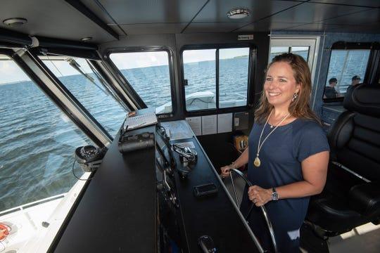 Kelly takes the wheel.