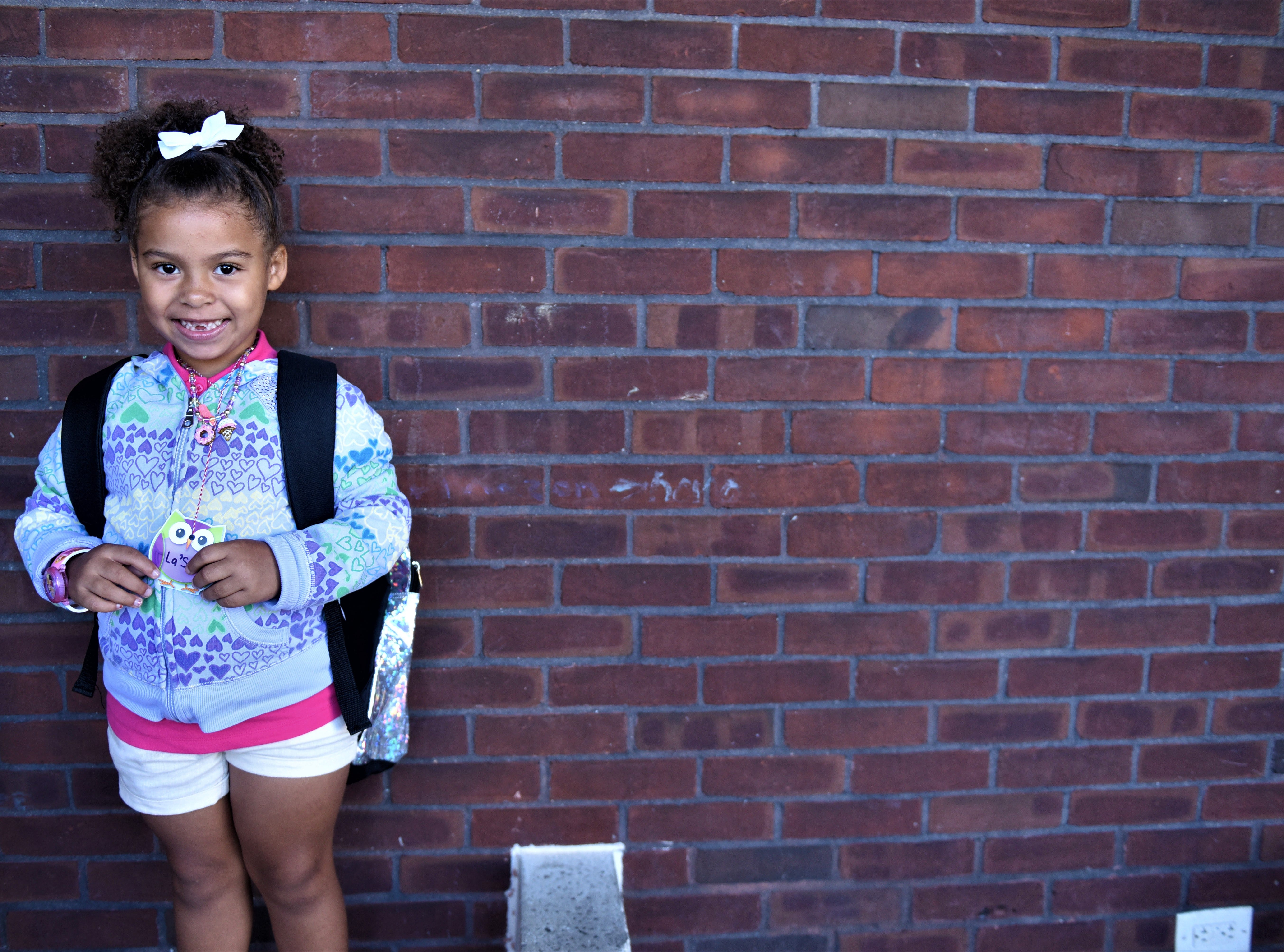 La' Skyy Blue is excited for her first day of kindergarten at Hanover Street Elementary on Aug. 23.