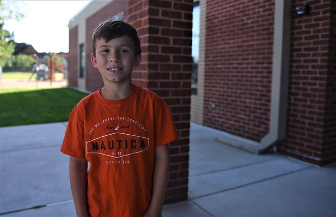 Malachi Kraft is starting his first day of third grade at Hanover Street Elementary on Aug. 23.