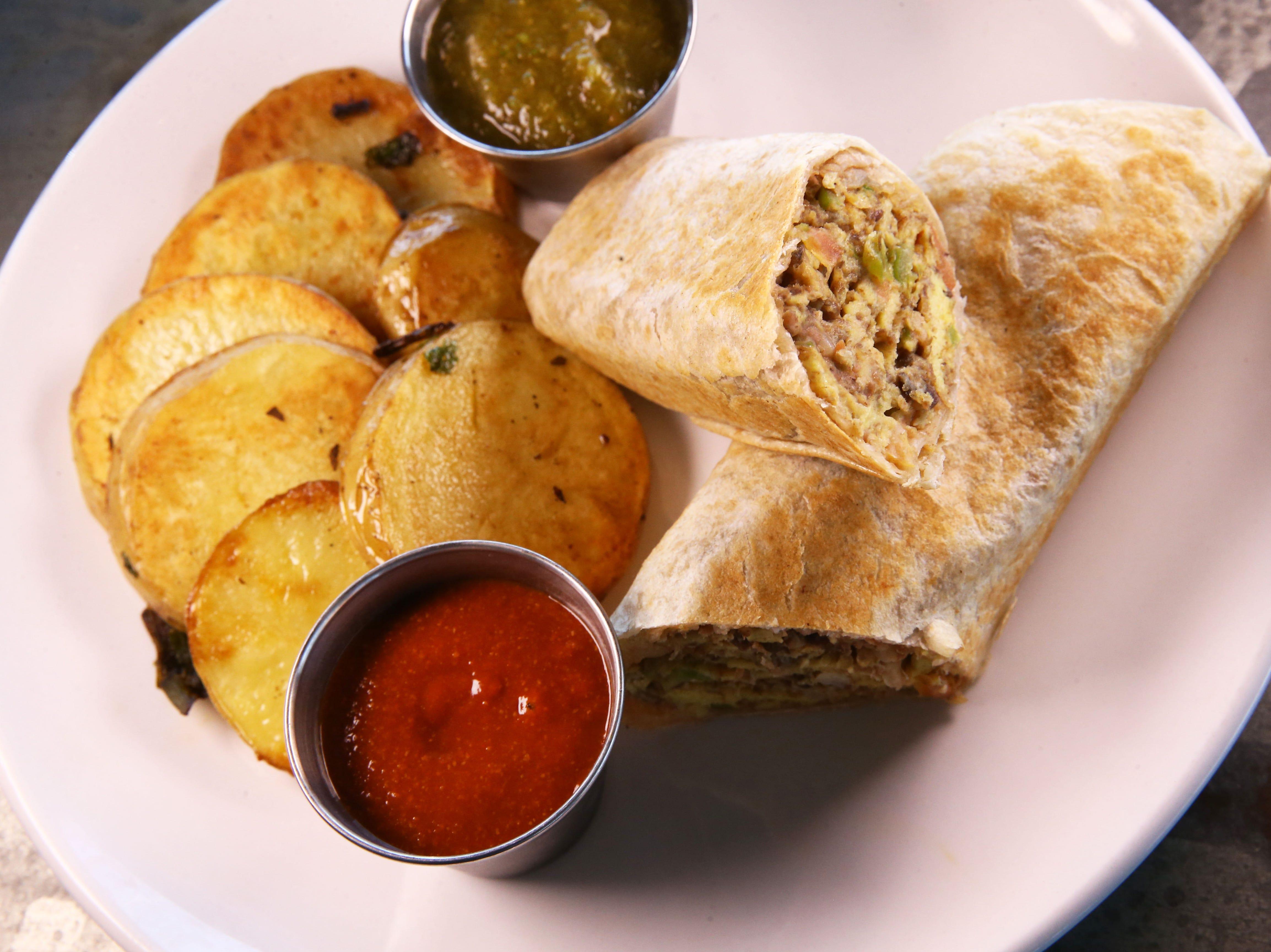 Machaca Burrito at Roland's Cafe Market Bar, on Aug. 20, 2018, in Phoenix, Ariz.