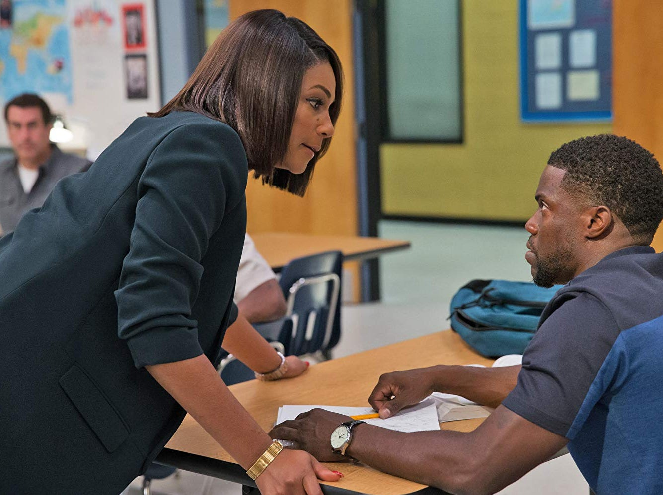"Kevin Hart and Tiffany Haddish in ""Night School"" (Sept. 28)."